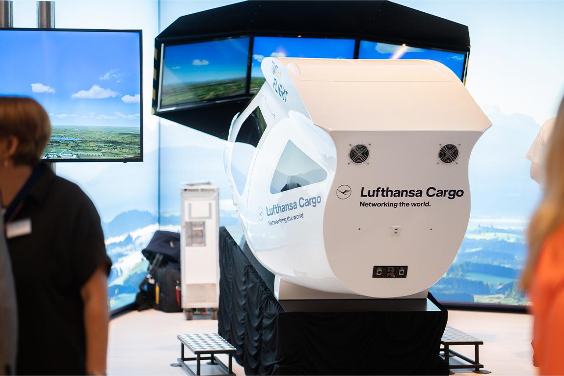 Lufthansa Flugzeug Simulator