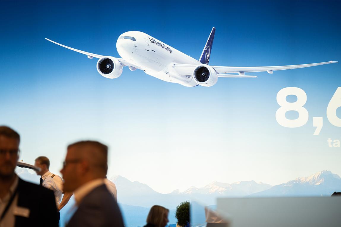 Lufthansa Flugzeug start